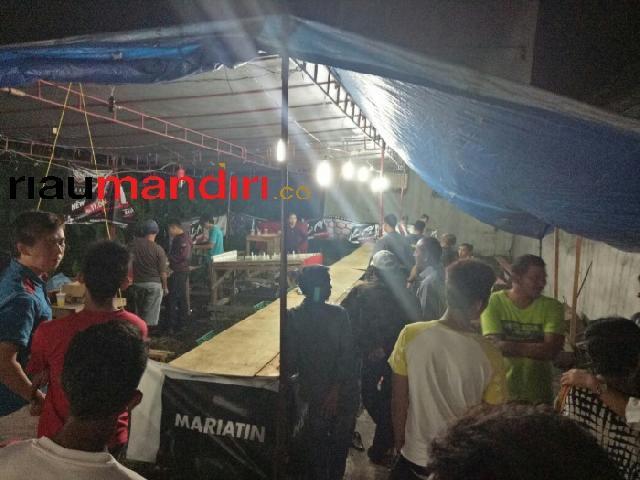 Diduga Arena Judi, Polres Meranti Tutup Pasar Malam di Jalan Banglas