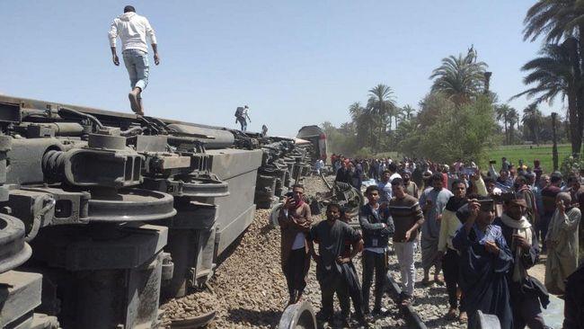Kecelakaan Maut Kereta Api di Mesir, 11 Orang Tewas