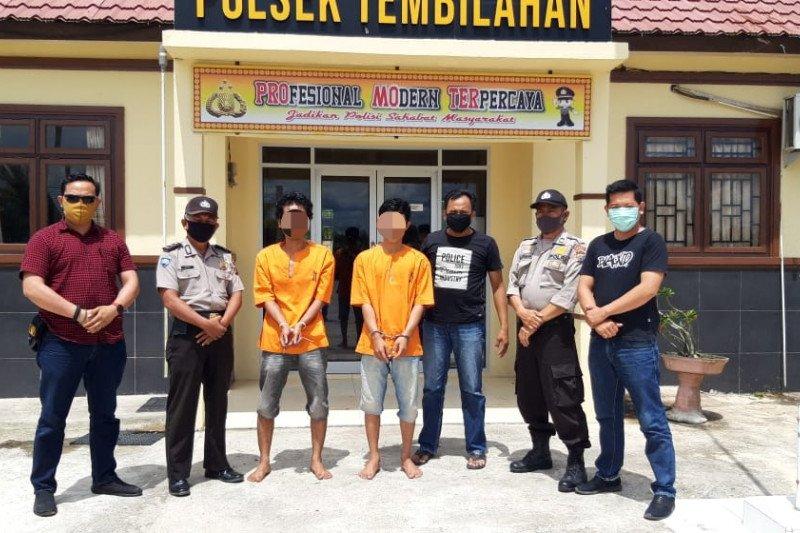 Curi Hp dan Uang Cewek ABG di Saat Corona, Dua Pria di Tembilahan Ditangkap Polisi