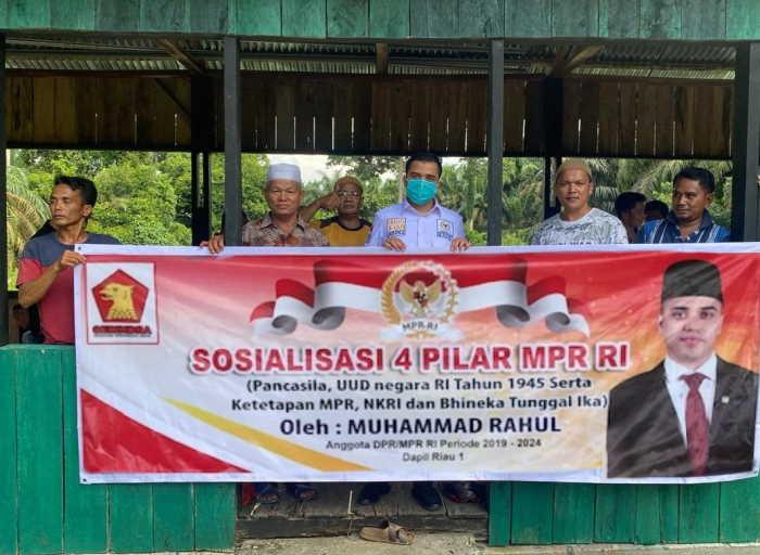 Anggota DPR RI Muhammad Rahul Sosialisasikan 4 Pilar di Desa Rantau Panjang