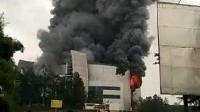 Gereja Basilea Christ Cathedral Serpong Terbakar