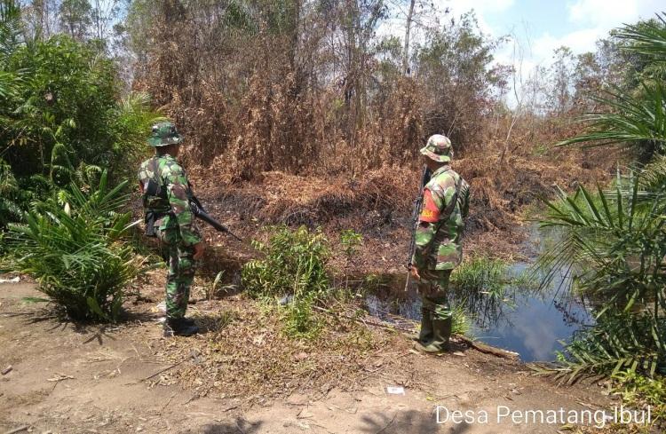 Cegah Karhutla, Koramil 05/Rimba Melintang Lakukan Patroli Rutin