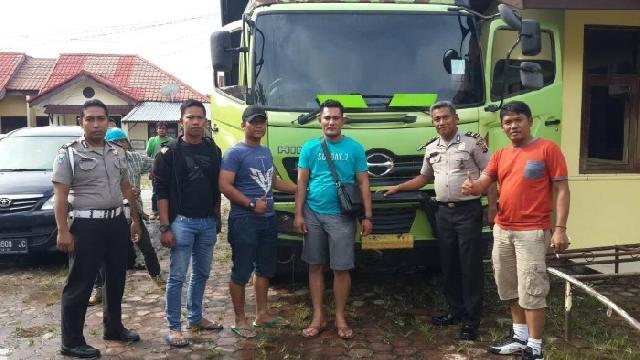 Polsek Tapung Amankan Truk Merek Hino yang Dicuri di Wilayah Sumbar