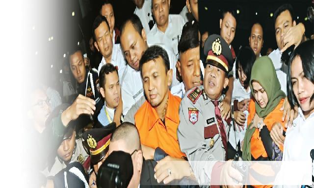 Gubernur Sumut Gatot  dan Istri Ditahan KPK