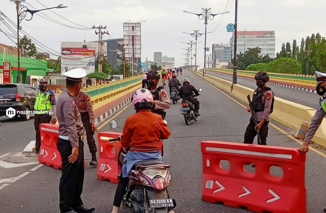 PPKM Level 4 Diperpanjang, Skema Penyekatan Jalan di Pekanbaru Masih Sama