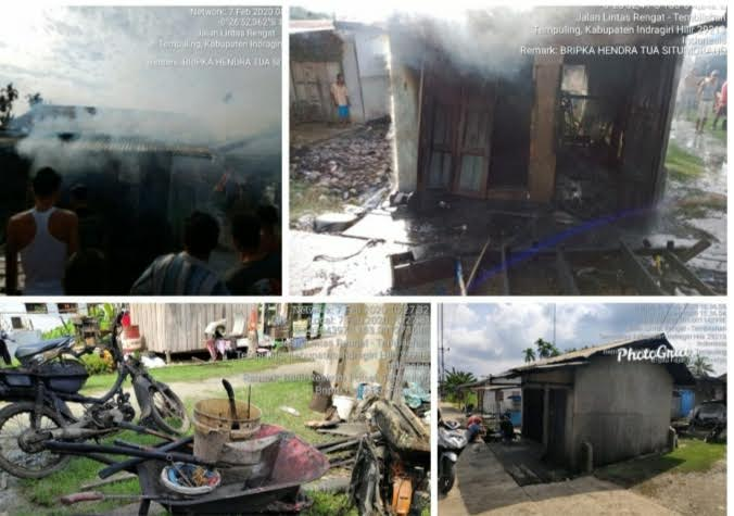 Kebakaran di Inhil Hanguskan Satu Unit Kios Bengkel Sepeda Motor