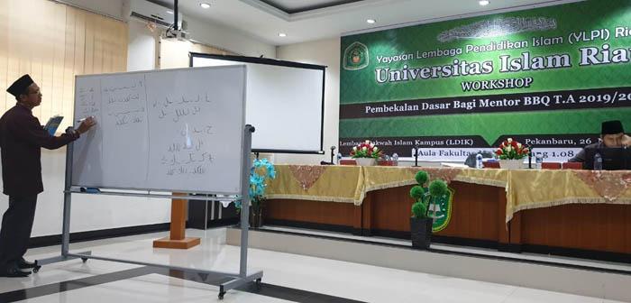Tingkatkan Kemampuan Baca Alquran Mahasiswa, LDIK UIR Gelar Workshop