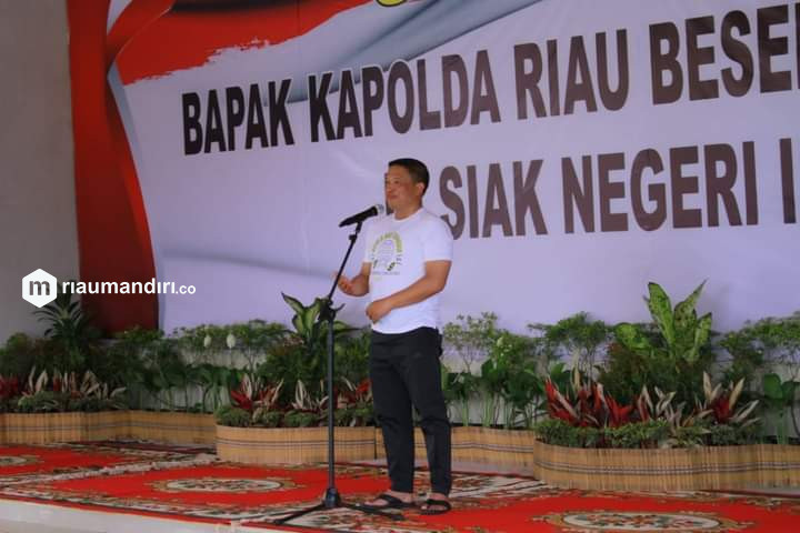 Tempuh Jarak 121 KM, Kapolda Riau Gowes ke Siak