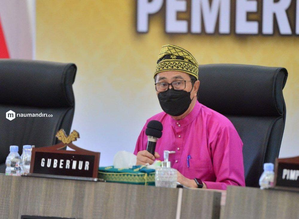 Gubernur Riau Kaget Masyarakat Tidak Tahu Berobat Covid-19 Gratis