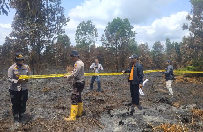Empat Hektare Lahan di Rumbai Pekanbaru Terbakar Saat Bersamaan