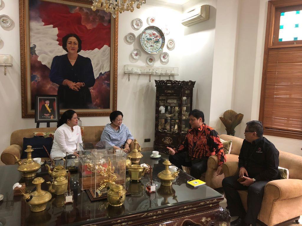Ini Hasil Pertemuan Megawati-Airlangga Bahas Cawapres Jokowi