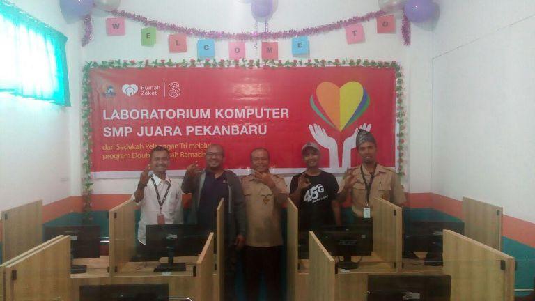 Tri Launching Laboratorium Komputer SMP Juara Binaan Rumah Zakat Pekanbaru