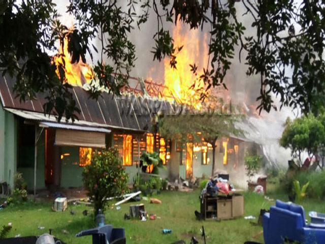 10 Rumah di Asrama Arhanud Ludes Terbakar