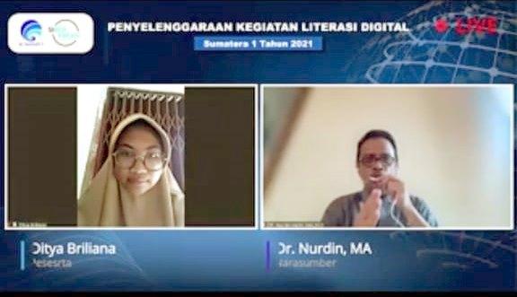 Webinar Literasi Digital di Pekanbaru Beri Pencerahan Agar Produktif di Medsos