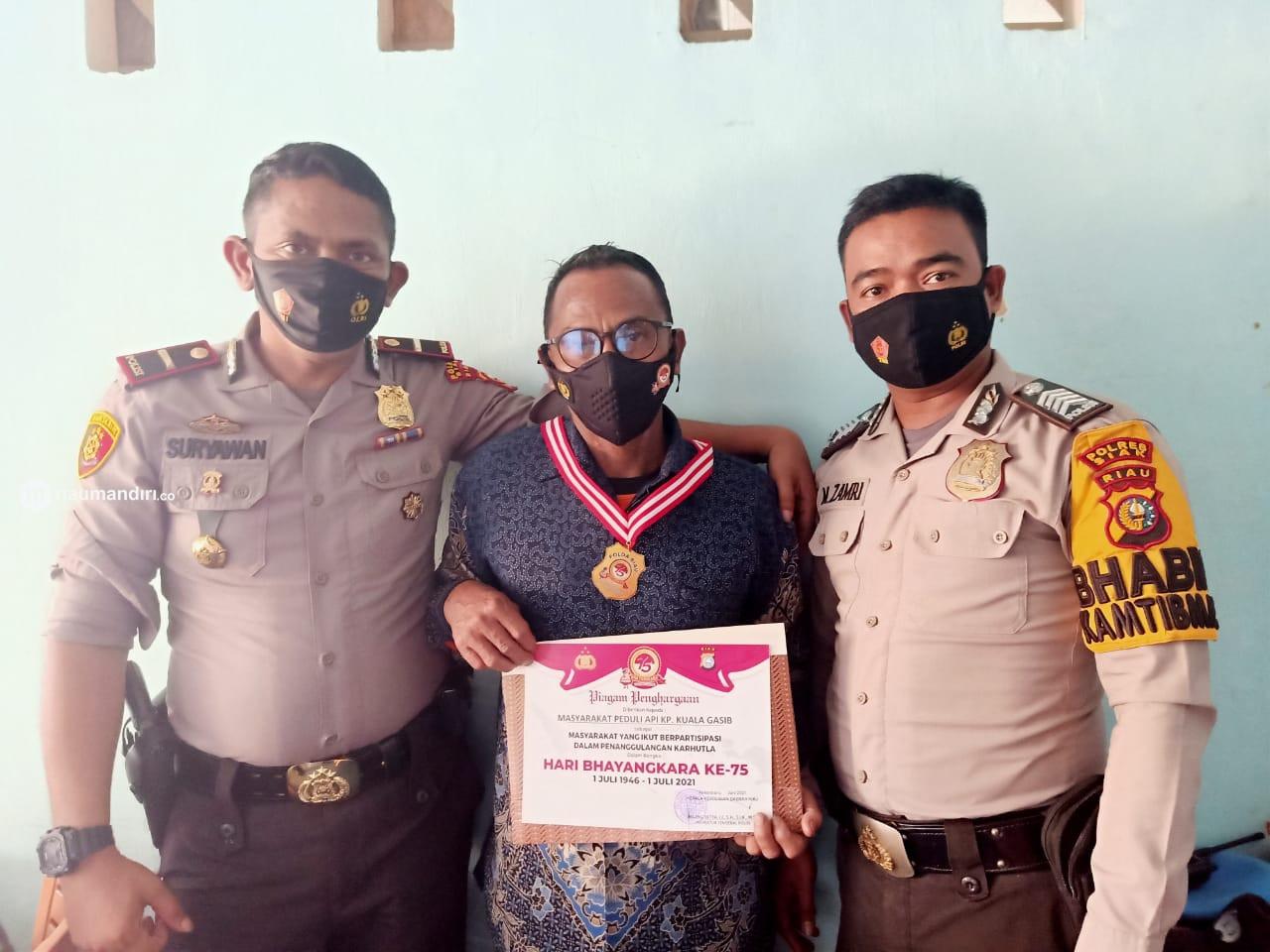 MPA Kuala Gasib Raih Penghargaan dari Kapolda