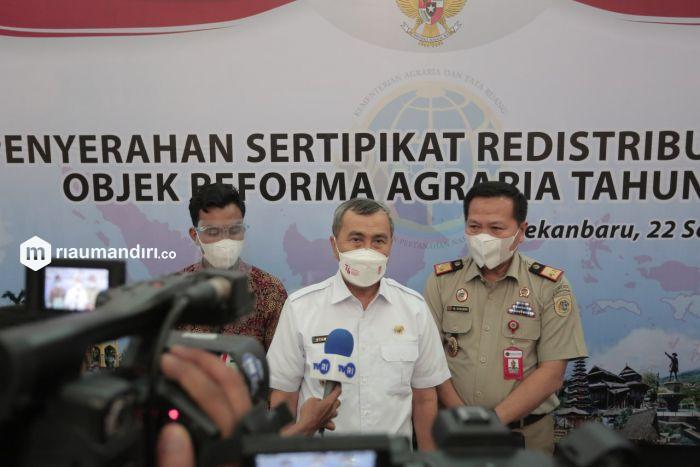 Riau Terima 3.000 Sertifikat TORA untuk 500.000 Hektare Lahan