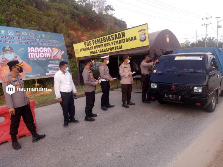 Riau Sudah Lakukan Penyekatan, Pemudik Wajib Punya Surat Bebas Covid-19