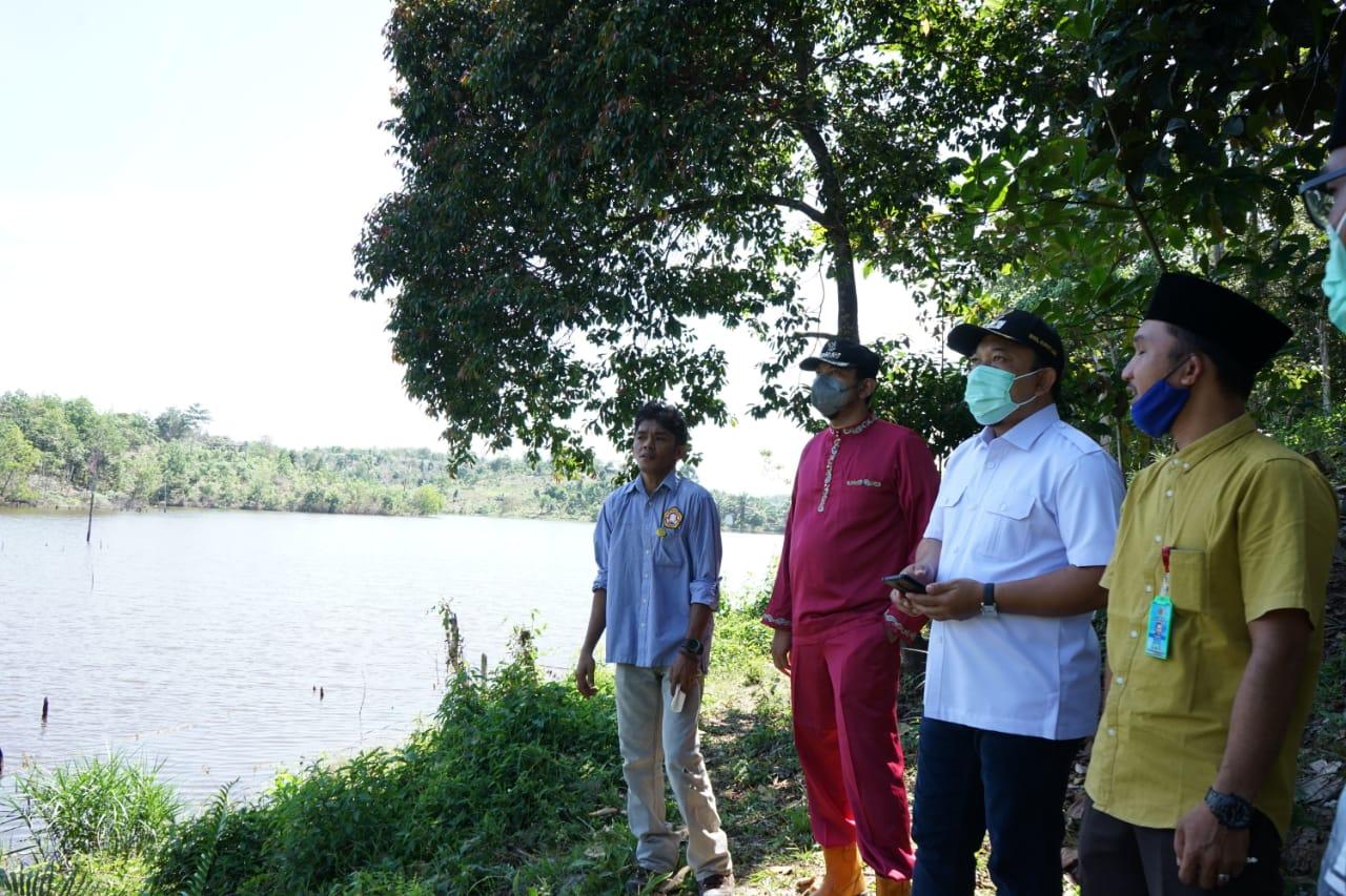 Wabup Siak Tinjau Danau Telago Batin Bungsu di Kecamatan Minas