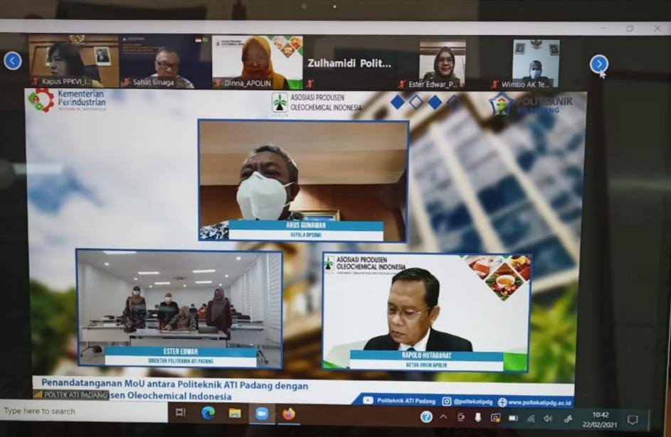 Politeknik ATI Padang Jalin Kerja Sama dengan Asosiasi Produsen Oleochemical Indonesia