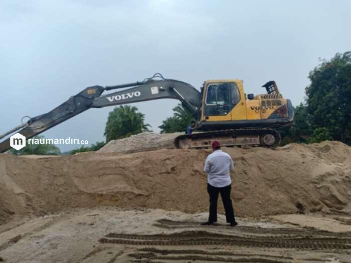 Dua Pekerja Ditetapkan sebagai Tersangka Galian C Ilegal di Desa Pangkalan Baru