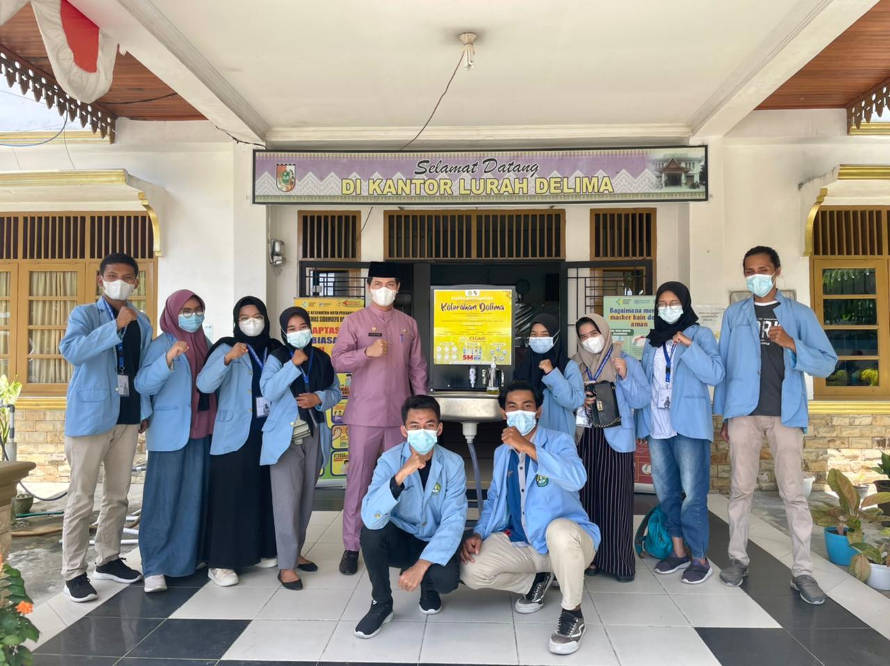 Pengabdian Masyarakat, Tim Kukerta UNRI Sediakan Tempat Cuci Tangan