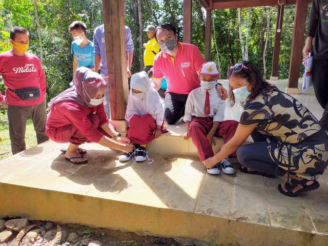 GeRak Salurkan Donasi Konsumen Alfamart di Rimbang Baling Kampar