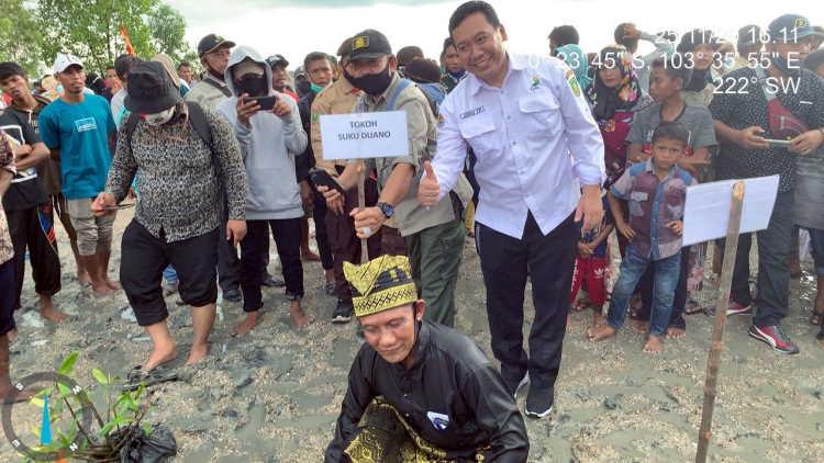 BPDASHL Indragiri Rokan Lakukan Program Padat Karya Mangrove di Inhil