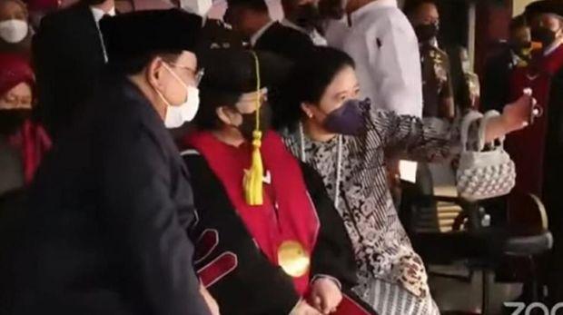Hadiri Pengukuhan Profesor Megawati,Pengamat: Sinyal Kuat Prabowo-Puan Berduet di Pilpres 2024