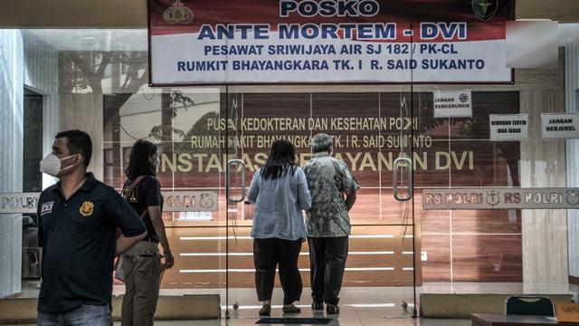 Tim DVI Sudah Kumpulkan 351 Sampel DNA Keluarga dan Korban Sriwijaya Air