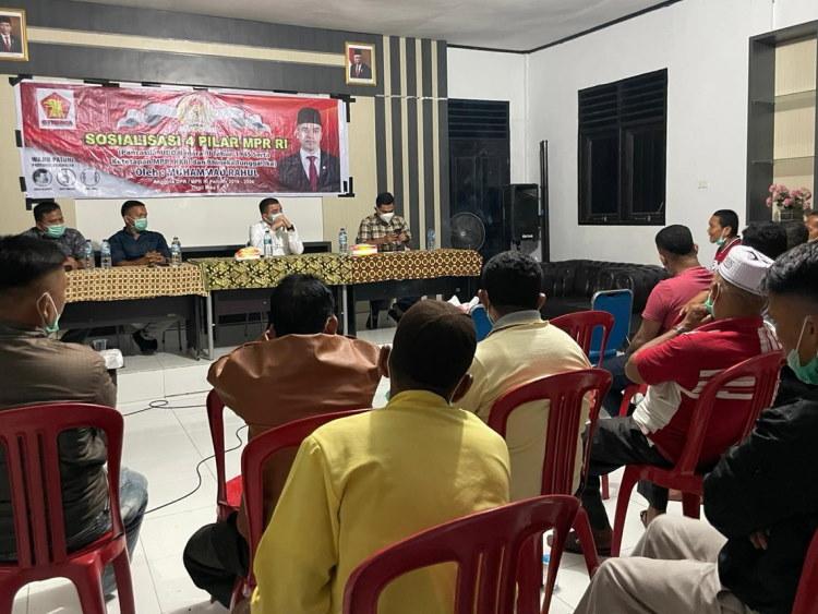 Anggota DPR RI Muhammad Rahul Sosialisasikan 4 Pilar di Desa Tingkok Rohul