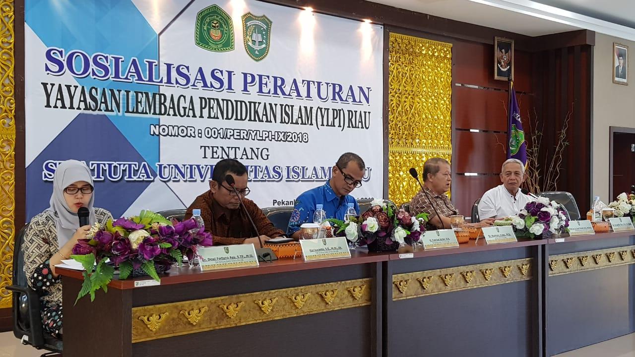 Rektor dan YLPI Sosialisasikan Perubahan Statuta UIR