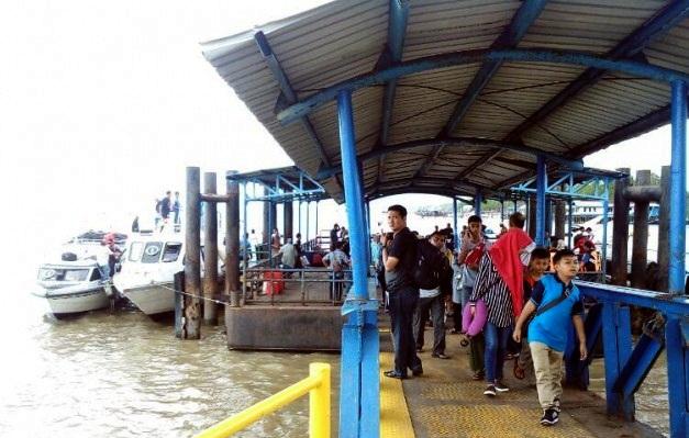 Arus Balik Sudah Ramai di Pelabuhan Tanjung Buton