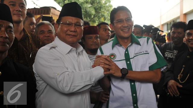 Duet Prabowo-Sandiaga Uno Menguat