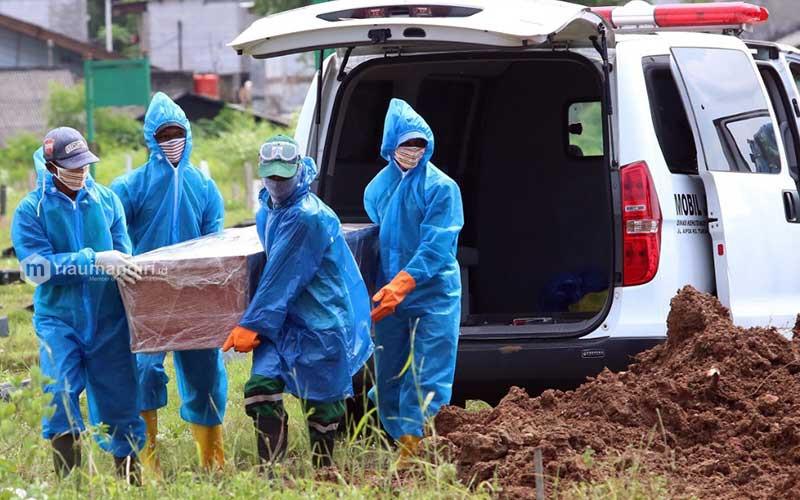 Pemakaman Jenazah Pasien Positif Covid-19 di Padang Sempat Terlantar