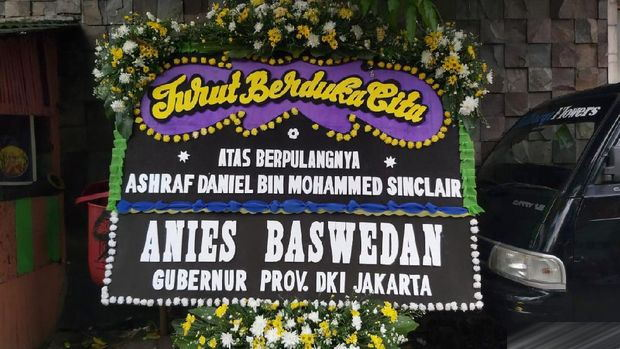 Jokowi hingga Anies Kirim Karangan Bunga ke Rumah Duka Ashraf Sinclair
