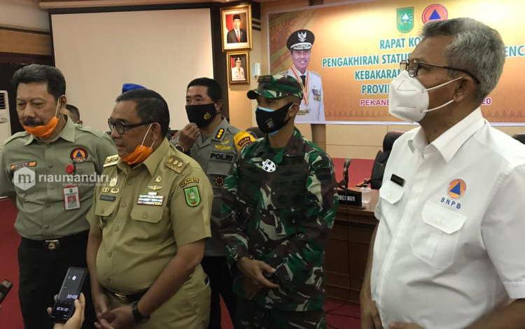 Status Siaga Darurat Asap Dicabut, Riau Terbaik dalam Penanganan Karhutla