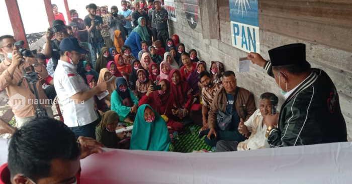 Kampanye di Panipahan, Masyarakat Beri Garansi 80 Persen Coblos Pasangan Sudin