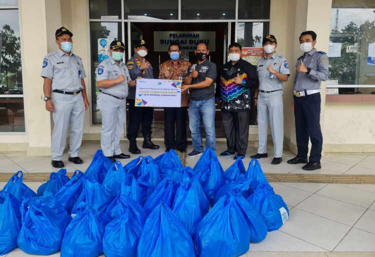 Jasa Raharja Riau Salurkan Sembako Bagi Masyarakat Terdampak Covid-19