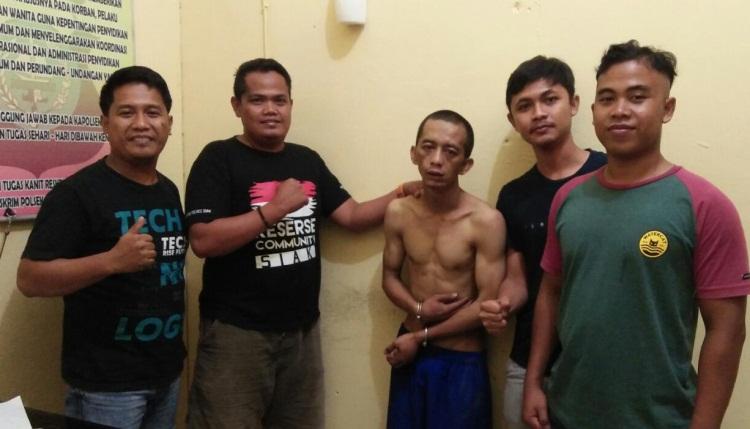 Pencuri Motor Guru Ngaji di Siak Jatuh dan Ditangkap Warga
