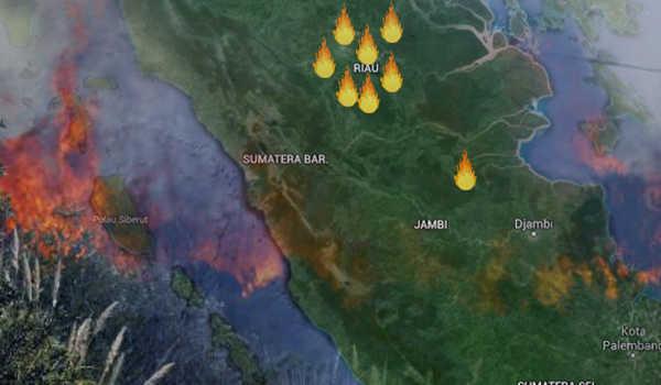9 Titik Hotspot Terpantau di Kabupaten Pelalawan