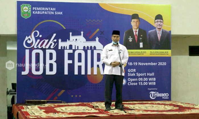 Job Fair Siak Resmi Dibuka, Diikuti 30 Perusahaan