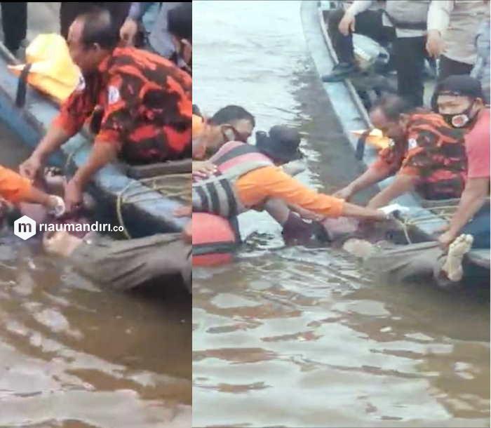 Pengusaha Tahu Perawang yang Tenggelam di Sungai Siak Akhirnya Ditemukan