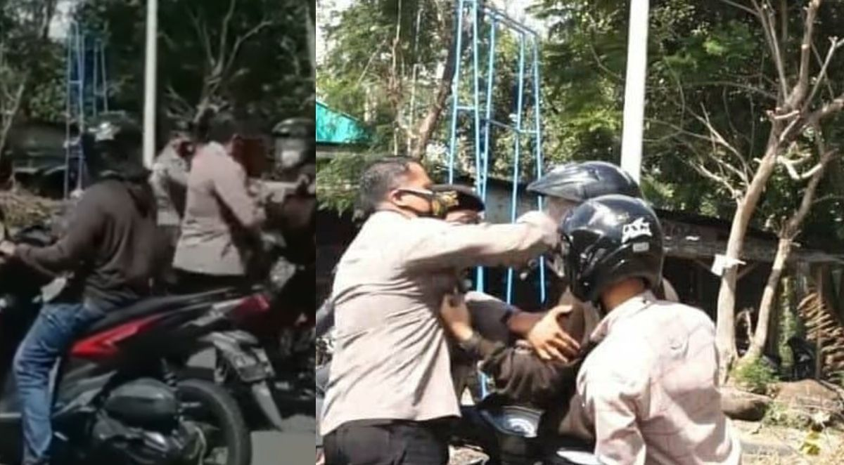 Viral Polisi Pukul Warga yang Demo di Ponorogo