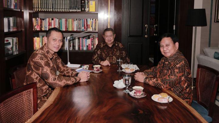 SBY dan Prabowo Sepakat AHY Cawapres Bukan Harga Mati