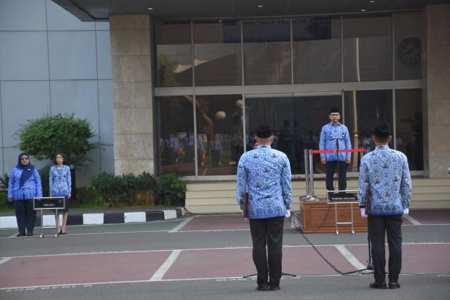 Deputi DPD RI Jadi Irup Hari Pahlawan di Komplek Parlemen