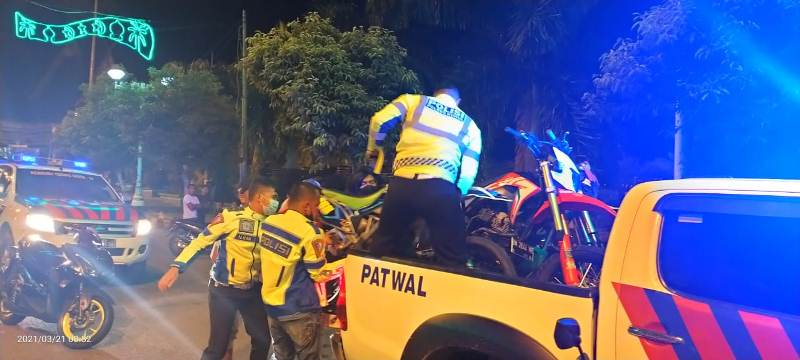 Aksi Balap Liar di Rohul, 15 Unit Sepeda Motor Diamankan
