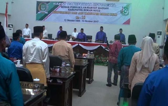 Rapat Paripurna HUT ke-18 Kabupaten Rokan Hulu Berlangsung Lancar