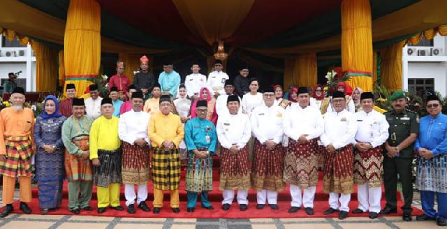 Bupati Rohul Pimpin Upacara Hari Jadi ke-19 Kabupaten Rohul