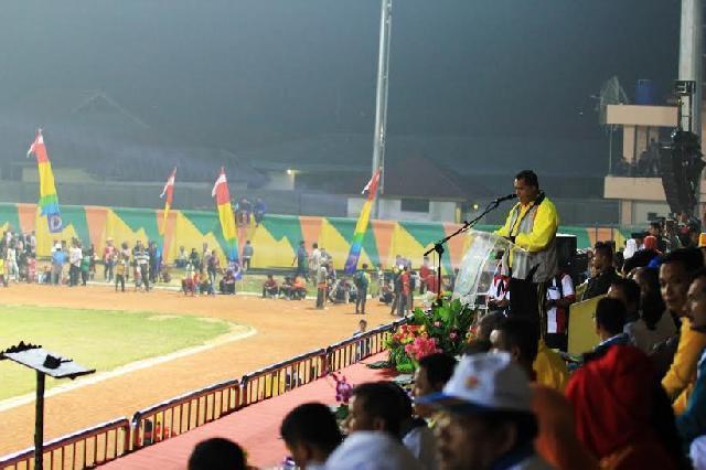 Pembukaan Porprov VIII Riau di Kabupaten Inhu Meriah