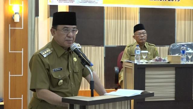 Bupati Inhil Buka Bimtek Pilkades Serentak Tahun 2019